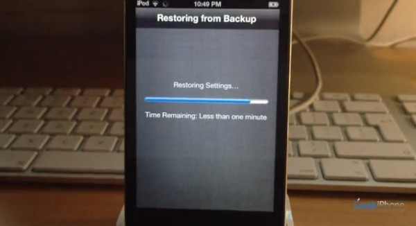 Restore from icloud backup instructions