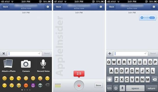 facebook update for iPhone and iPad with voice messages greekiphone