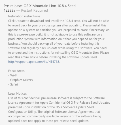 os x 10.8.4 mountain lion new seed for developers greekiphone