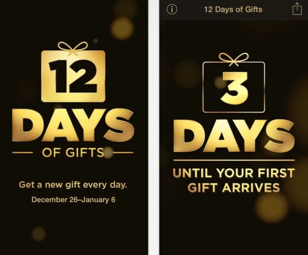12 days of gifts app itunes greekiphone