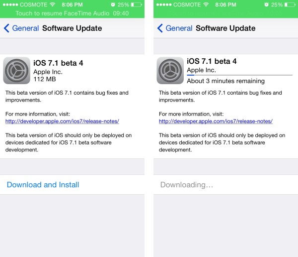 ios 7.1 beta 4 ota update greekiphone
