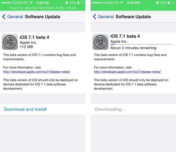 ios 7.1 beta 4 ota update greekiphone