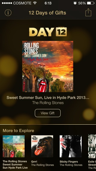 itunes 12 days of gifts day 12 rolling stones live