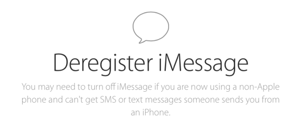 deregister imessage greekiphone