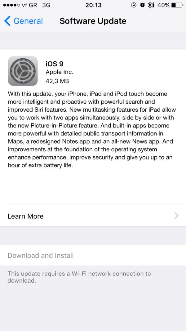 iOS 9 ota update