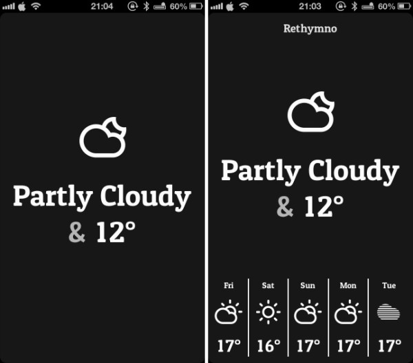 conditions simplified weather app greekiphone
