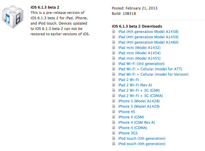 ios 6.1.3 beta 2 update with bug fixes and patches greekiphone