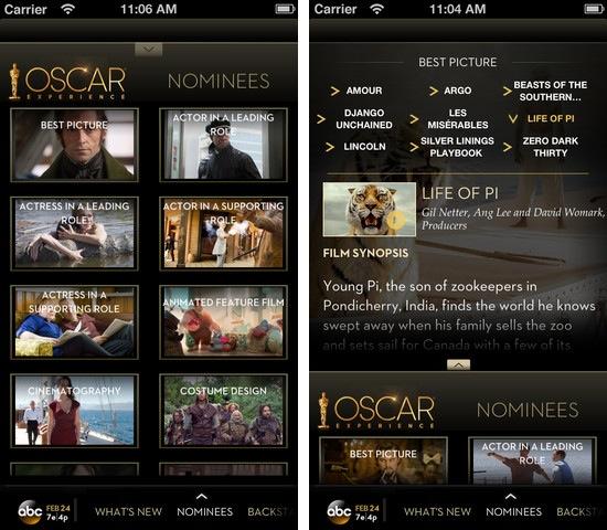 oscars 2013 academy awards iphone ipad abc channel greekiphone