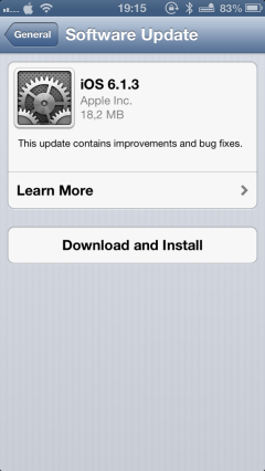 iOS 6.1.3 with improvements to japanese maps and a bug fixation on passcode unlock greekiphone