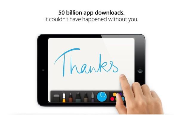 apple 50 billion downloads new milestone greekiphone