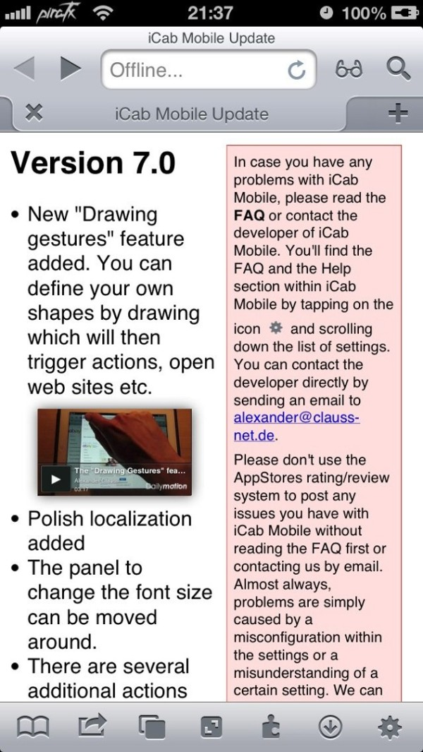 icab 7 updated with drawing gestures copy greekiphone