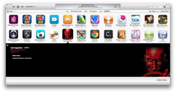 itunes 1103 with new app updates view greekiphone