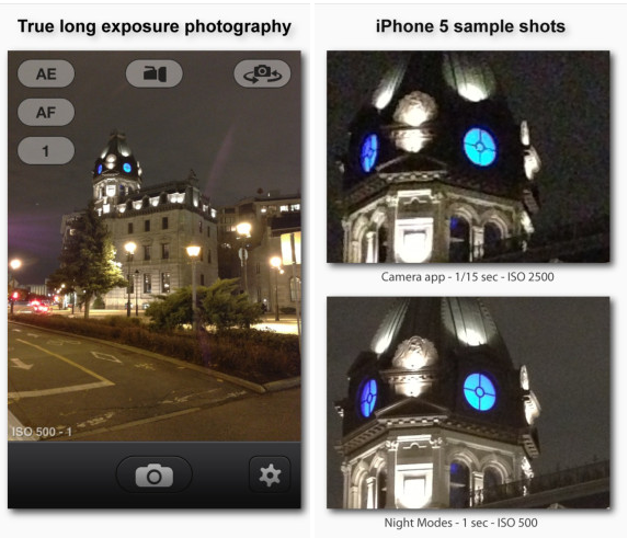 NightModes for iPhone and iPad greekiphone