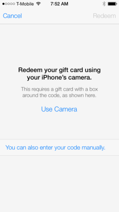 redeem your itunes card using your camera greekiphone