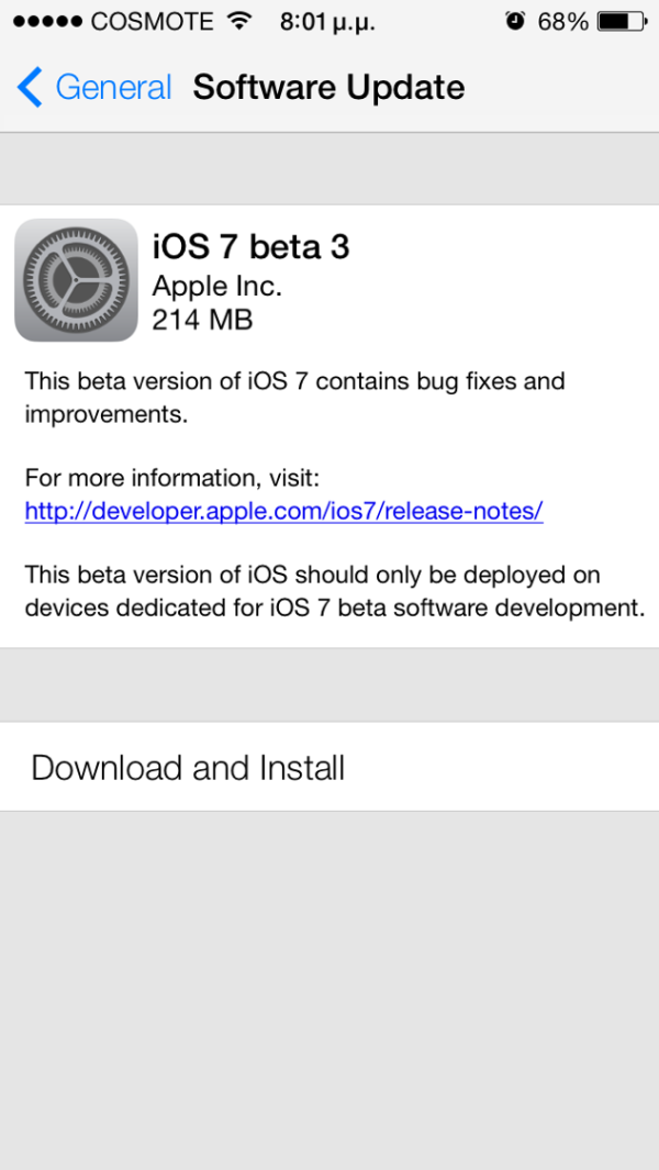 apple ios 7 beta 3 for developers copy greekiphone