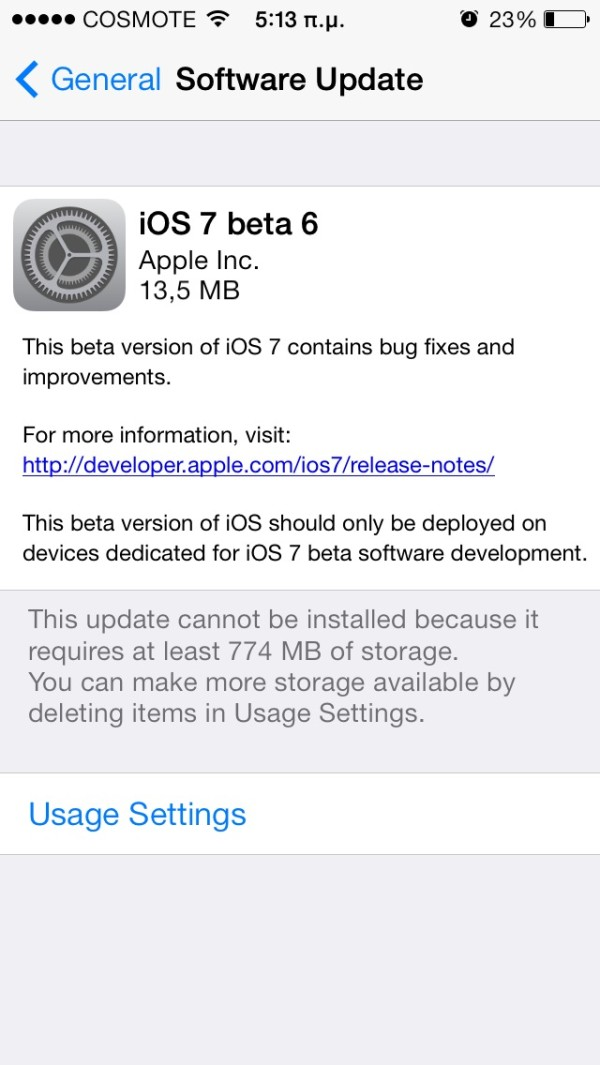 apple ios 7 beta 6 greekiphone