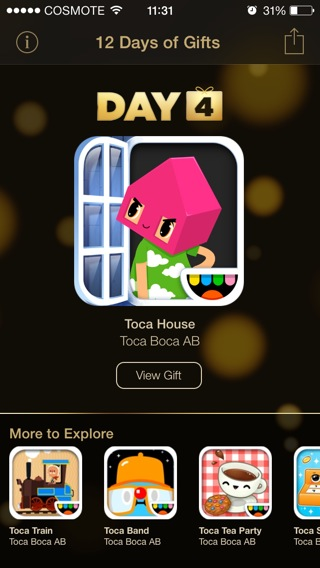 itunes 12 days of gifts day 4 toca house greekiphone
