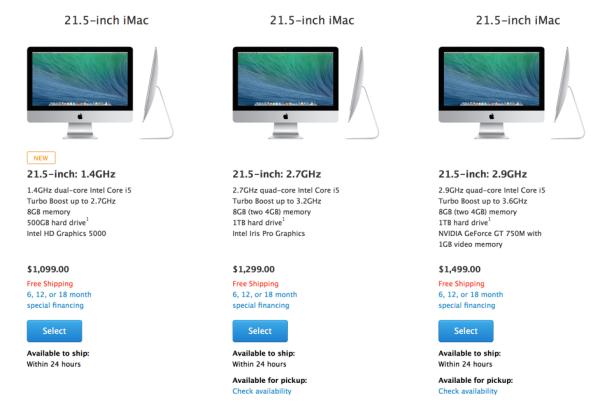 new imac cheaper with slower i5 cpu greekiphone
