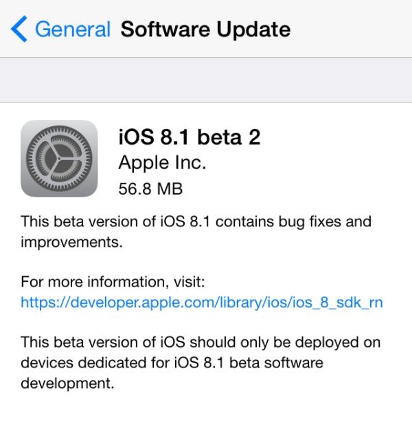 ios 8.1 beta 2 greekiphone