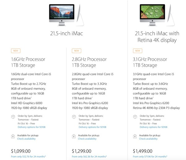 imac 21.5 with retina 4k display new prices greekiphone